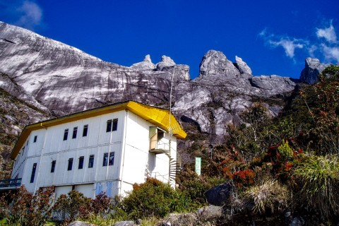 Accommodation must be pre-booked. Photo taken in or around Mount Kinabalu, Kinabalu Park, Malaysia by Sally Arnold.