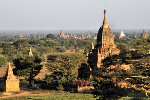 Looking east from New Bagan across to Myinkaba.