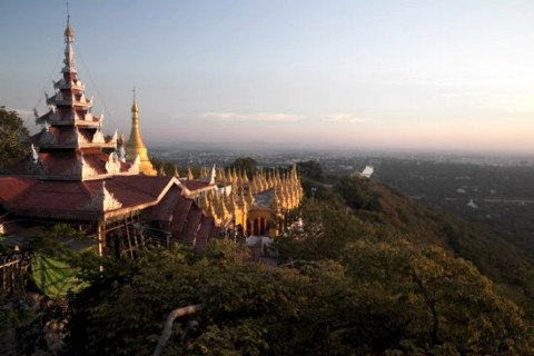 Another day, another view from the hill. Photo taken in or around Mandalay Hill, Mandalay, Burma_myanmar by Christopher Smith.