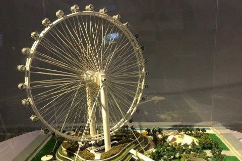Think big and round. Photo taken in or around Singapore Flyer, Downtown Singapore, Singapore by Sally Arnold.