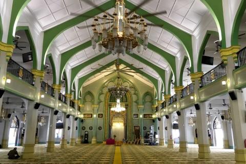 The mosque interior.