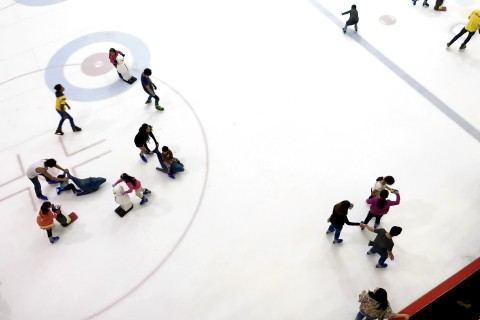 The cute rink aids at The Rink.