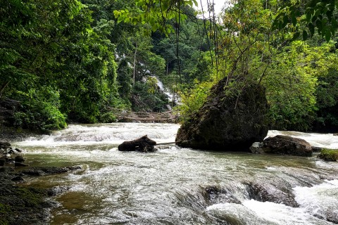 Watch for extra charges if you deviate from the guide's route. Photo taken in or around La Popu Waterfall, Wanokaka And Lamboya, Indonesia by Sally Arnold.