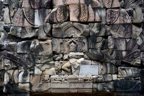 Detail of dancing Shiva, Prasat Hin Phimai. Photo taken in or around Prasat Hin Phimai , Phimai, Thailand by David Luekens.